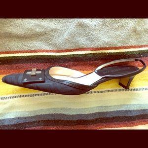 Givenchy kitten sling monogram heels. 36 Italy